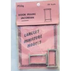 P33g 2 Door frames - Jacobean Unpainted Kit OO Scale 1:76