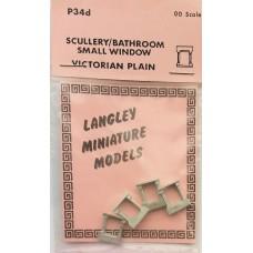 P34d 4 Scullery/bathroom window - Vic. Plain Unpainted Kit OO Scale 1:76