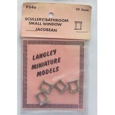 P34e 4 Scullery/bathroom window - Jacobean Unpainted Kit OO Scale 1:76