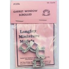 P35b 4 Garret windows - Scrolled Unpainted Kit OO Scale 1:76