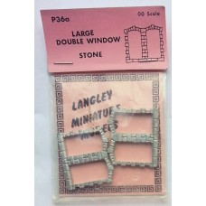 P36a 2 large double window - Stone Unpainted Kit OO Scale 1:76