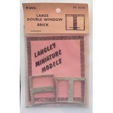 P36b 2 large double window - Brick Unpainted Kit OO Scale 1:76