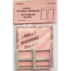 P36d 2 large double window - Victorian Plain Unpainted Kit OO Scale 1:76