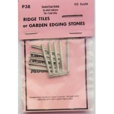 P38 10 strips Ridge tiles/garden edging Unpainted Kit OO Scale 1:76