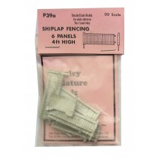 P39a 6 x 4ft fencing panels (shiplap) Unpainted Kit OO Scale 1:76