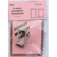 P3a 2 large Jacobean windows Unpainted Kit OO Scale 1:76