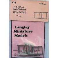 P3b 4 small Jacobean windows Unpainted Kit OO Scale 1:76