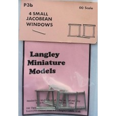 P3b 4 small Jacobean windows Unpainted Kit OO Scale 1:76