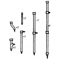 P44c Stench pipes, lenghts & fittings Unpainted Kit OO Scale 1:76