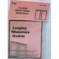 P4a 2 large Brick windows Unpainted Kit OO Scale 1:76