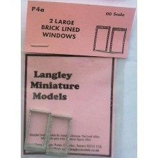 P4a 2 large Brick windows Unpainted Kit OO Scale 1:76