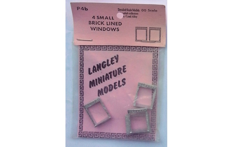 P4b 4 small Brick windows Unpainted Kit OO Scale 1:76