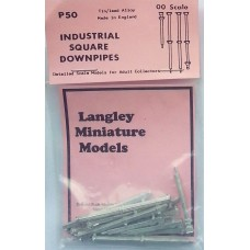 P50 Industrial square downpipes Unpainted Kit OO Scale 1:76