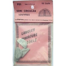 P51 4 semi-circular louvres (for V17) Unpainted Kit OO Scale 1:76