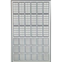 P52a 20 panel Window Glazing bars - Black Frame (OO scale 1/76th)