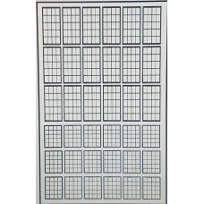 P52a 20 panel Window Glazing bars - Black Frame (OO scale 1/76th)