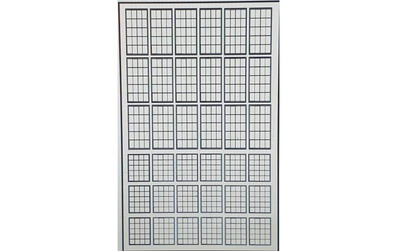 P52b 20 panel Window Glazing White (OO scale 1/76th)