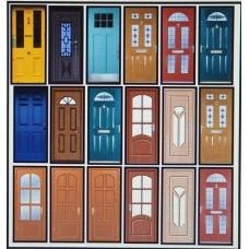 P55 Door Panels (coloured) to fit Door Frames (OO scale 1/76th)