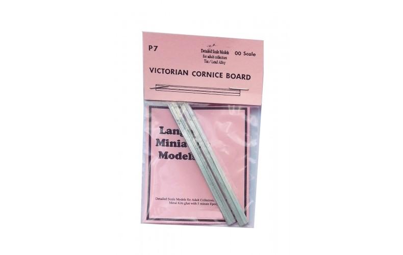 P7 2 Victorian Cornice boards Unpainted Kit OO Scale 1:76