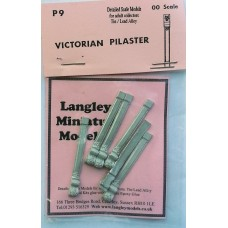 P9 6 Victorian Pilasters Unpainted Kit OO Scale 1:76