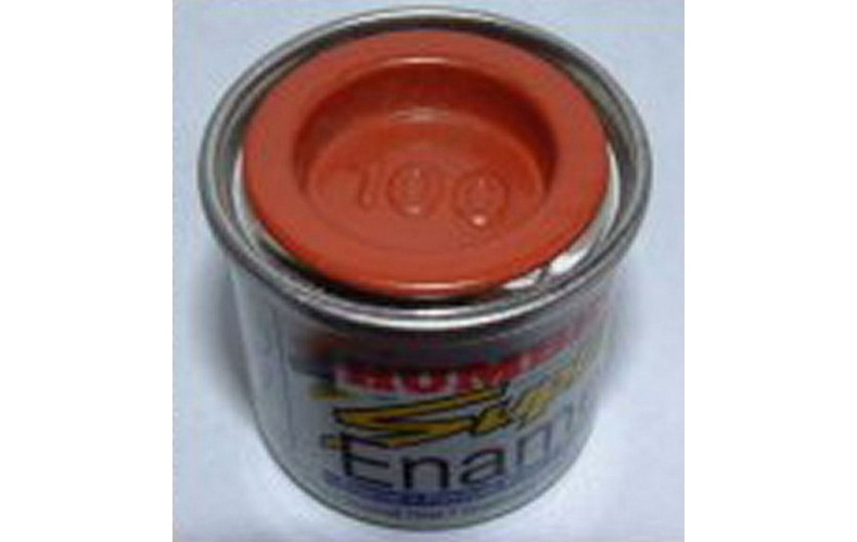 PP100 Humbrol Enamel Matt Paint Tinlet 14ml Code: 100 Brick Red/terracota