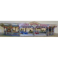 Q1 Dodgem Ride & traditional artwork Unpainted Kit OO Scale 1:76