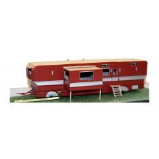Q28 Modern 43ft Living Van & extension Unpainted Kit OO Scale 1:76