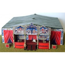 Q44 Boxing Booth incl rear tent Unpainted Kit OO Scale 1:76