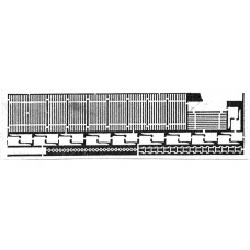 J21 10 x 3rd class slatted seats for L&B Unpainted Kit OO Scale 1:76