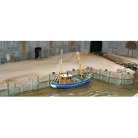 NMB16 Stone Wharf Walls/stairs & pedestrian ramps (512mm) Unpainted Kit N Scale 1:148