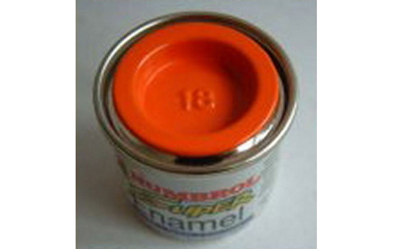 PP18 Humbrol Enamel Gloss Paint Tinlet 14ml Code: 18 Orange