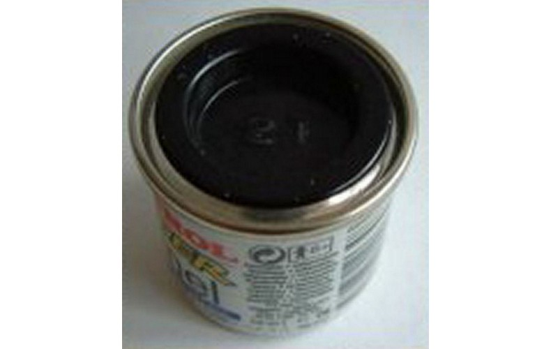 PP21 Humbrol Enamel Gloss Paint Tinlet 14ml Code: 21 Black