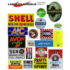 SMF12 Enamel Sign Reproductions -Garage ads (Medium)