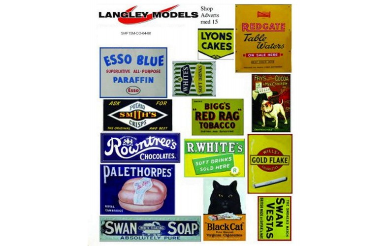 SMF16 Copies of old enamel signs -Shop adverts large