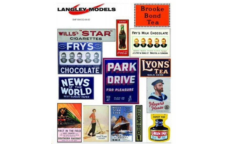 SMF19 Copies of old enamel signs -Station adverts large