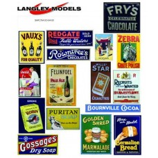 SMF22 Copies of old enamel signs -Street adverts large