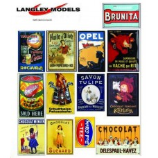 SMF23 Copies of old enamel signs -European Adverts large