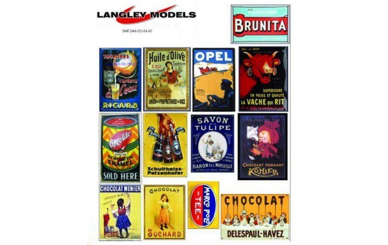 SMF24 Enamel Sign Reproductions -European ads (medium)