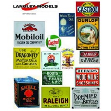 SMF26 Copies of old enamel signs -Workshop Adverts large