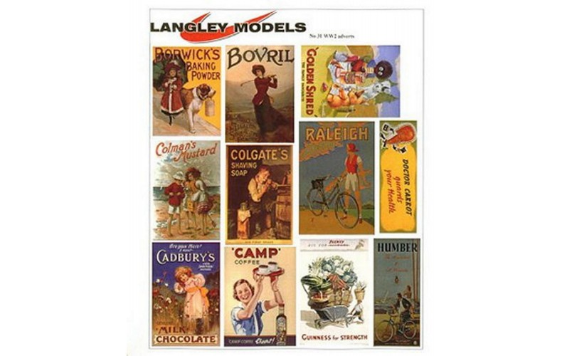 SMF29 Enamel Sign Reproductions- World War 2 adverts (small)