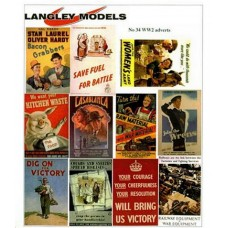 SMF32 Enamel Sign Reproductions - World War 2 Info ads (small)