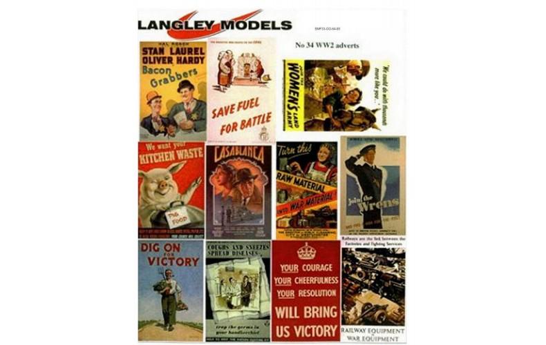 SMF33 Enamel Sign Reproductions - World War 2 Info ads (medium)
