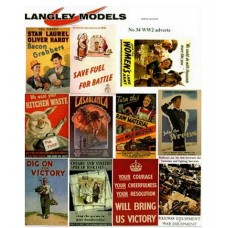 SMF34 Enamel Sign Reproductions - World War 2 Info ads (large)