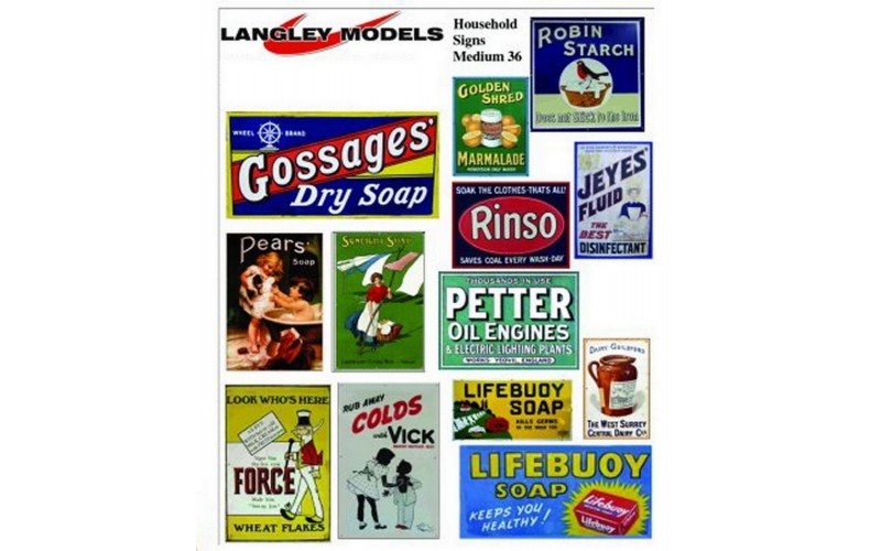 SMF37 Enamel Sign Reproductions Houshold small