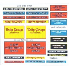 T20 Breakdown/Recovery Lorry Decals (OO Scale 1/76th)