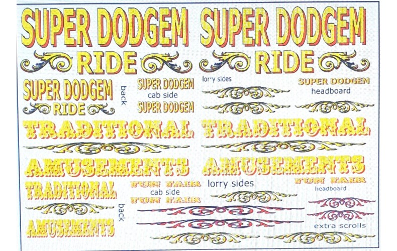 NT13 Fairground Decals (yellow) ( Nscale 1/148th)
