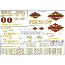 NT14 Fairground Decals (yellow, maroon, white) (N scale 1/148th)