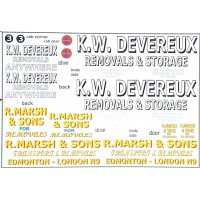 NT15 Removals Lorry Decals (N Scale 1/148th)