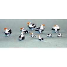 TT11 6 large 4 small standing Seagulls UNPAINTED TT Scale