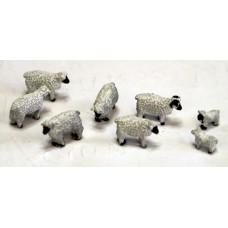 TT15 8 Sheep 3mm UNPAINTED TT Scale